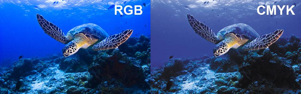Пример преобразования RGB в CMYK