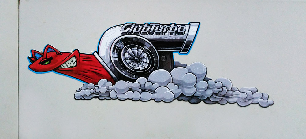 Наклейка Club Turbo. Контурная резка