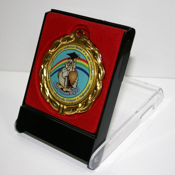 Футляр с медалью универсальный. Красный-черный