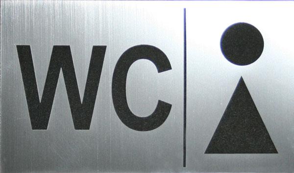 Табличка с лазерной гравировкой